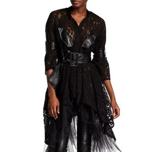 NWT: Cascading Lace and Tulle Shirt Dress